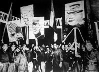 Háborús tüntetés Rómában