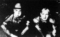 Lengyel Árpád (jobbra), mellette ellenfele az osztrák Pader
