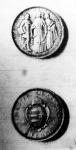 A Pázmány Péter-tudományegyetem alapításának 300 éves jubileumára készült új két pengős ezüstérme két oldala (1935)