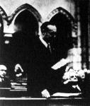 Darányi Kálmán miniszterelnök programbeszédet mond a felsőházban.