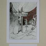 Krisztus-kereszt az erdőn