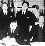 A német-japán egyezmény aláírása