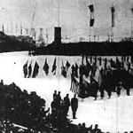 A résztvevők leteszik az esküt az olimpiai megnyitón