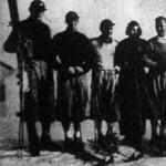 A magyar olimpiai síválogatott - Balatoni, Kőváry, Szalay, gróf Szapáry Marianne, Iglódy,Deczky és Csík