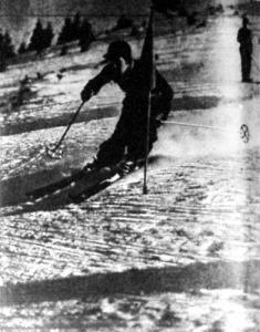 Christel Cranz verseny közben