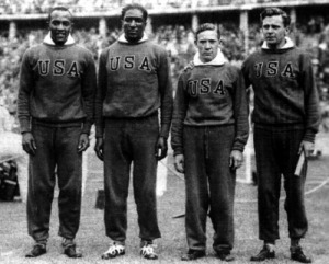 4x100 m győztese az amerikai váltó (Owens - Metcalfe - Draper - Wykoff)