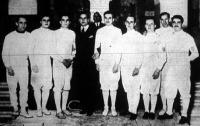 Magyarország kardcsapat bajnoka a MAC - dr. Torday, Gerevich, Rajcsányi, Jeney István (szakosztály elnök), dr. Szilassy, Nagy, Szabolcsy, Gönczy, Rónai