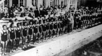 Felvonultak a japán és magyar úszók, vízilabdázók