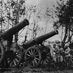Nehéz várágyúk, melyeket az oroszok már nem vihettek magukkal a dunkovicki erődből