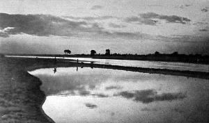 A Dnyeszter, csata után, alkonyattal