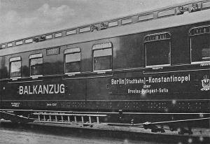 Az első Balkánvonat, melyet Berlinből Budapesten és Szófián keresztül Konstantinápolyba indítottak