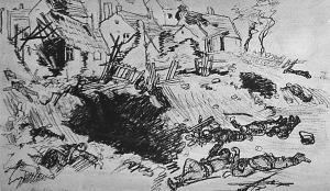 Bíró Mihály festőművész a harctéren