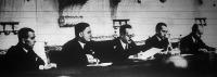 Darányi Kálmán miniszterelnök (x) nyitotta meg a közigazgatási tanfolyamot a  Belügyminisztérium dísztermében.