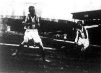 Titkos (jobbra) a Hungária második gólját rúgja