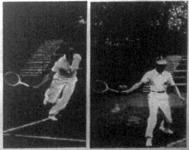 Lacroix és Dallos játék közben a magyar-belga Davis Cup mérkőzésen