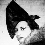 Münnich Aladárné, az újvonalú fekete filckalap (Roth Margit modellje 1937.)
