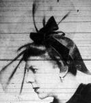 Tószögi Richárdné estélyi kalapban (Roth Margit kreáció 1937.)