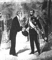 Az orosz czár és Loubet találkozása