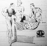 Indanthren festésű textilia reklámja