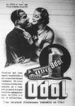 Az Odol márka hirdetése; a tubusok hulladékként hasznosíthatók, hiszen