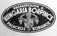 A Hungária Borpince hirdetése