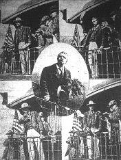 Roosevelt, az Egyesült Államok elnöke kortesúton