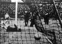 Az első gól a Ferencváros-Bocskai (5-0) mérkőzésen