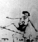 A német Ratjen kisasszony 170 cm-es világrekorddal győz magasugrásban a női Európa-bajnokságon