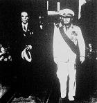 A Duce és Ciano gróf fogadta Rómában Imrédy miniszterelnököt és Kánya külügyminisztert