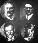 Chamberlain, Hitler, Daladier és Mussolini