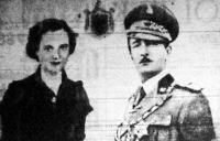 Zog király és Geraldine királyné hivatalos, együttes fényképe