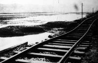 A Sajó áradása a vasútvonal töltését alámosta Putnoknál