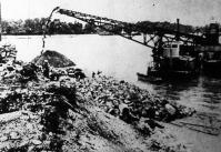 A Margitsziget északi csúcsán megkezdődtek az ujpesti Árpád-híd építésének előmunkálatai