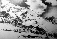 Francia vadászszakasz útban a Mont Blanc csúcsa felé