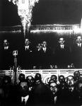 A Magyar Élet Mozgalom nagygyűlése alkalmából zsúfolásig megtelt a Vigadó nagyterme.
