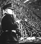 Mussolini kétszázezer ember előtt mondott beszédet a római olimpiai stadionban