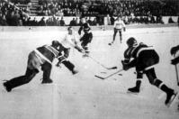 Jelenet a zürichi magyar-belga (8-1) jégkorongmérkőzésről