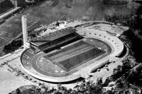 A már elkészült olimpiai stadion Helsinkiben