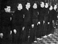 Magyarország csapata - Brandy, Somóczi, Mezei, Kislégi, Lengyel, Hazai, Sárkány, Vizváry kapitány