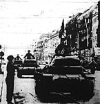 Az első német tankok a prágai Vencel téren