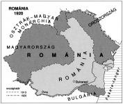 A térképvázlat jobb szélén látható sötétszürke sáv Besszarábiát jelöli