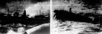 Egy német repülő éppen bombát dobott a  Royal Crown  angol kereskedelmi hajóra.