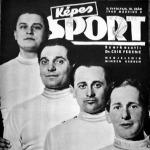 A MAC bajnok kardcsapata a Képes Sport címlapján - Gerevich, Rajcsányi, Dunay és Pesthy