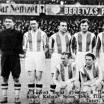 A húsvéti torna győztese a Hungária - Szabó, Kalmár, Sebes, Béky, Titkos, Bíró, Vidor, Müller, Dudás, Turay, Kiss