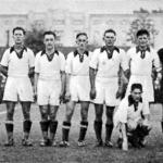 A Gamma futballcsapata - Borhy, Kemény, Magda, Turay II., Szebeni, Háda, Tóth, Kovács, Szebehelyi, Sütő, Váradi (guggol)
