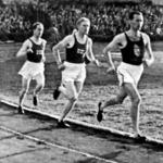 A 10000-esek versenye. Elöl Kelen és Szilágyi, mögöttük Tuominen, majd Jarvinen