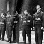 A magyar csapat - Bencze, Tóth Ferenc, Tóth Miklós, Sóvári, Kovács, Riheczky, Bóbis