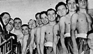 A bajnokcsapat - Homolya, Csontos, Szigeti, Mándi, Fellegi, Barinka, Szumega, Kubinyi, Hámori