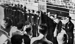 A németek a megnyitó ünnepség alatt