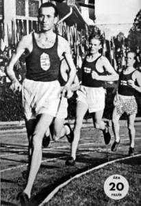 A 10000 méteres verseny - Szilágyi, Kelen, Tuominen, Jarvinen